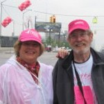 Sue and Terry at the Susan G. Komen walk.