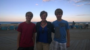 My boys and me in Asbury Park, NJ, this month.